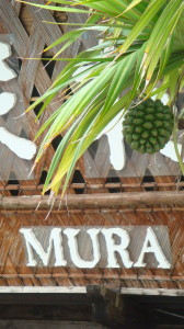 close up of ryukyu mura sign
