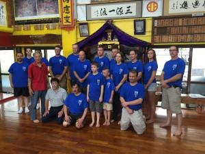 inside karate museum dojo