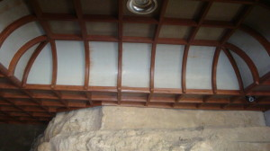 ceiling by the mouth of the cave of Hakugin-do