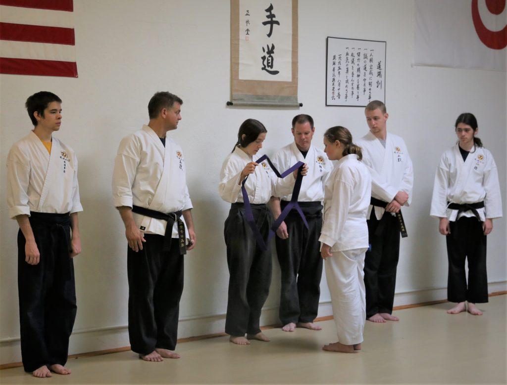 karate belt rank test