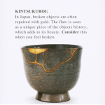 kintsukoroi art of mending pottery