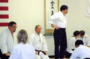 karate training ceremony