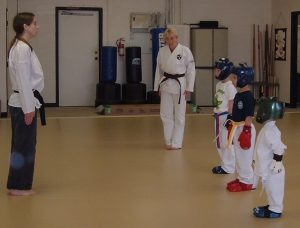 young karate students provide chuckle moments