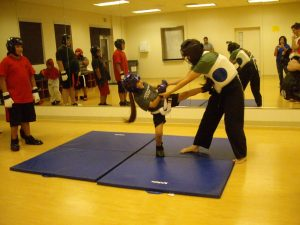 kids' karate teaches self-defense
