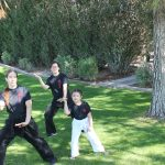 small group workshop at Spring Karate Camp