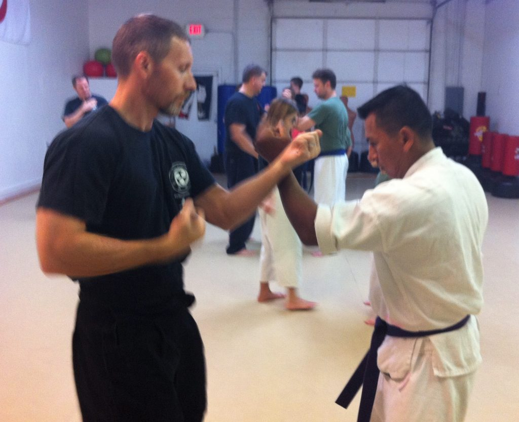 repetition karate partner drill