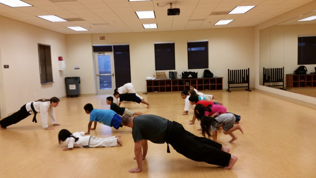 karate push-ups show that karate meets kids where they are with physical fitness needs