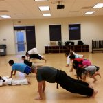 karate meets kids where they are with burpee push-ups