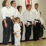 after starting karate at a young age, a student is presented with a new belt