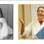 author before karate as a serious child and after as an adult with a positive attitude