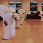 showing the bow and how karate teaches respect