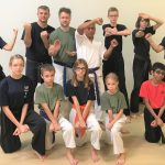awesome karate instructors and students in karate poses