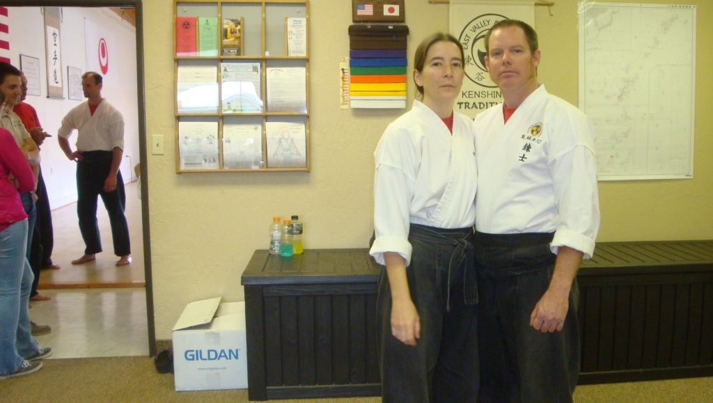 a karate couple building confidence together and in others