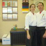 confident karate couple