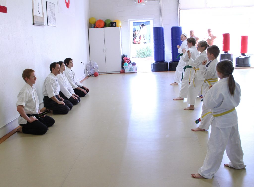 a kids' karate belt test