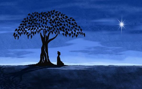 a calming picture of a person using meditation for health