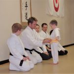 young kids' karate belt promotion