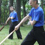 United Ryukyu Kempo Alliance students in weapons training