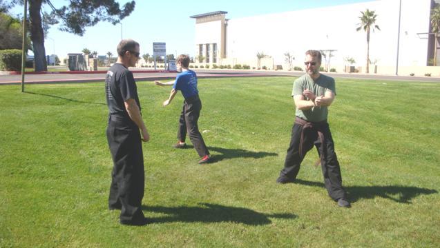 small group karate class