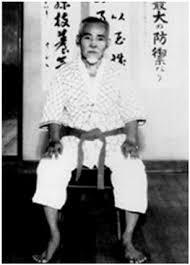 Shigeru Nakamura in karate training uniform